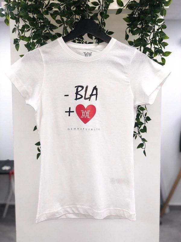 CAMISETA BLANCA - BLA + LOVE GEMMA PUJALTE