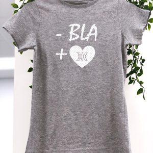 CAMISETA GRIS - BLA + LOVE GEMMA PUJALTE